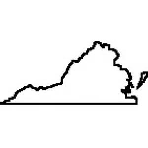 Virginia State Outline by State Of Virginia Outline Map Rubber St