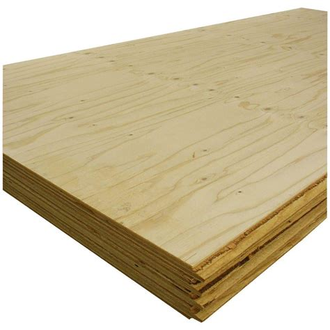 t g sheathing plywood common 1 1 8 in x 4 ft x 8 ft