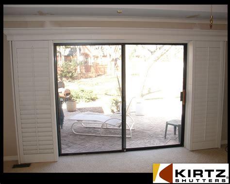 stylish sliding plantation shutters patio door as ideas