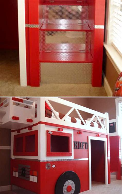 bedroom fire truck bunk bed inspiring unique bed