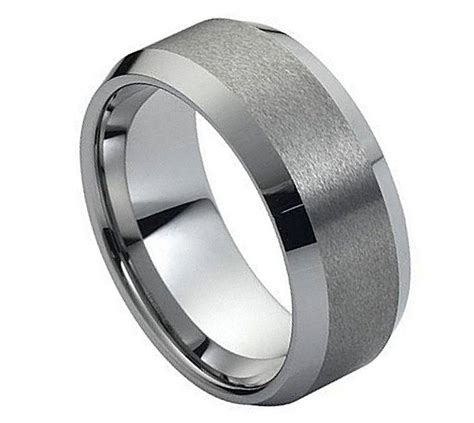 tungsten wedding bands comfort fit black tungsten carbide wedding band ring mens jewelry