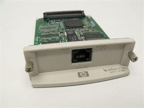 resetting hp jetdirect card hp jetdirect 6057a 615n e b032 03 0874 rj 45 10 100 print