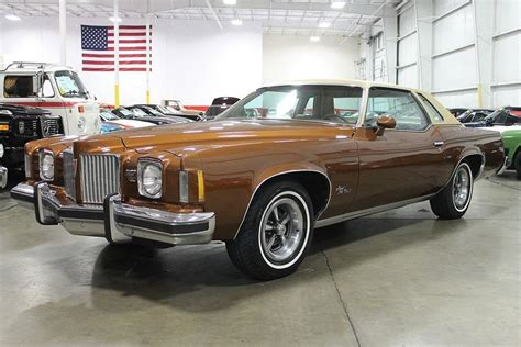 Size Of A 2 Car Garage by Crestwood Brown 1974 Pontiac Grand Prix Sj For Sale Mcg