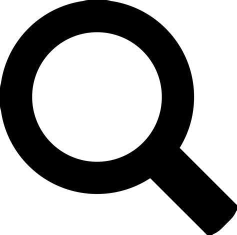 free clipart search simple bold search icon transparent png stickpng