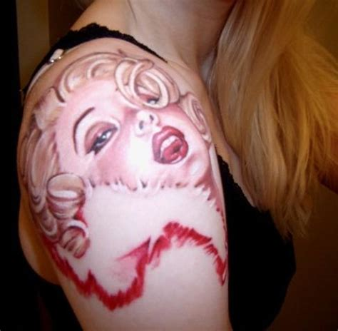 marilyn monroe tattoo drursus tattoos designs of marilyn