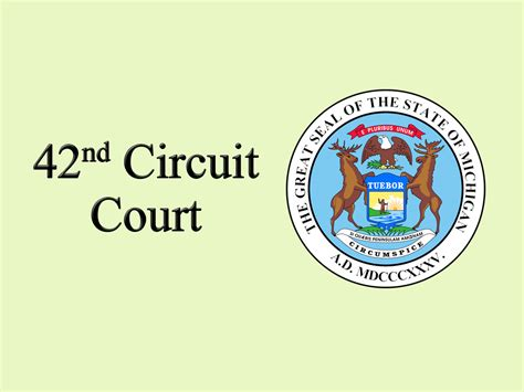 Circut Court Records 42nd Circuit Court