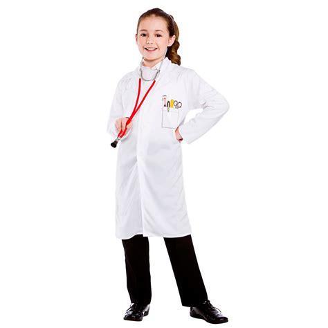 New Doctor Dress Ukuran Besar childrens unisex white doctors coat fancy dress up costume new ebay
