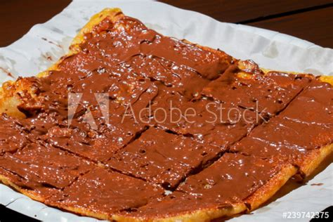 roti  nutella sauce stock photo  royalty
