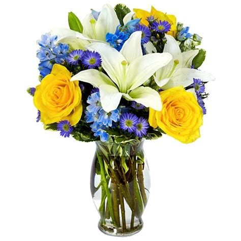 Ftd Vases Blue Hues Flower Bouquet At Send Flowers