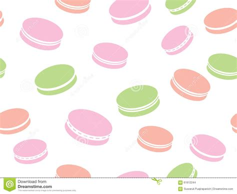 cute macaron pattern cute pattern with macaroon background stock vector image
