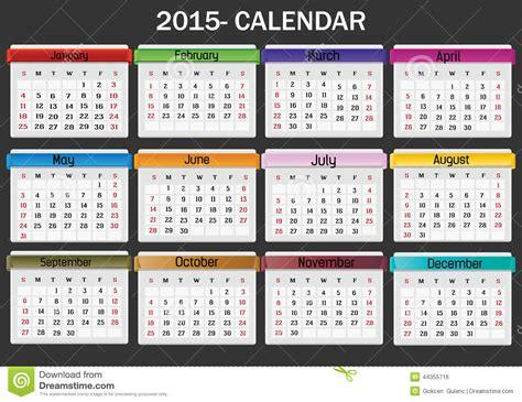 Calendario U Mayor 2015 Calendar 2015 Stock Vector Image 44355716
