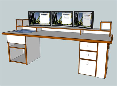 diy computer desk plans scratch build project the ultimate computer desk power