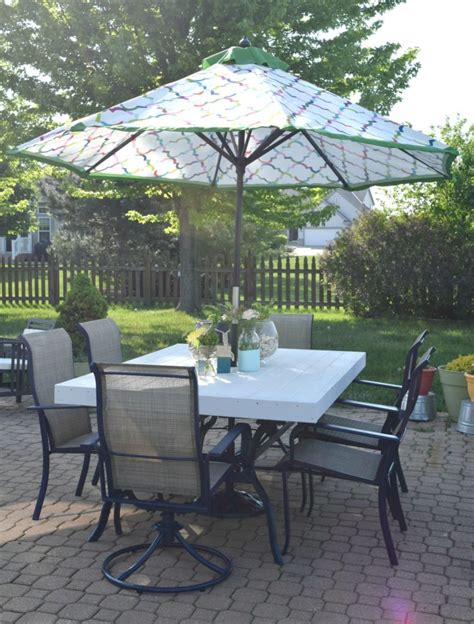 patio table transformation with tutorial our house