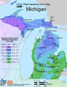 Landscape Zone Michigan Michigan Growing Zone Map For Plant Hardiness