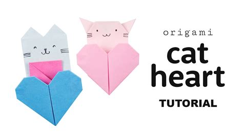 Origami Cat Box - origami cat tutorial diy collab with origami