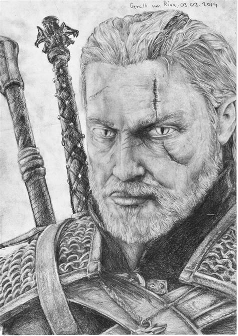 Witcher 3 Sketches by Geralt Of Rivia The Witcher 3 Drawing By Monoflax