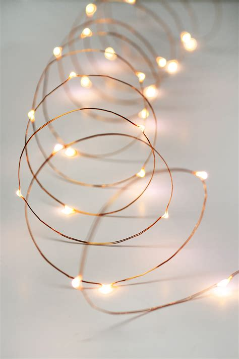 Copper Wire Fairy Lights 10 Ft Outdoor Battery Operated Lights Copper Wire