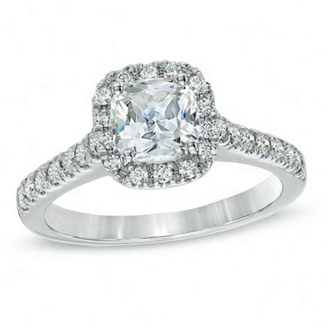 1 ct t w certified cushion cut frame engagement