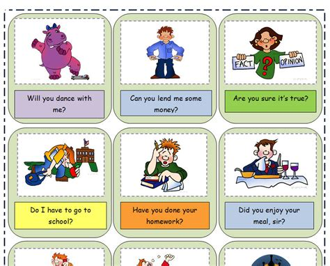 wh questions printable flash cards reported questions flashcards