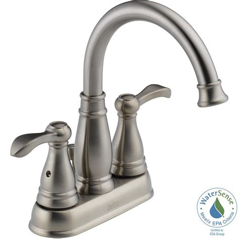 Delta Brushed Nickel Kitchen Faucet Delta Porter 4 In Centerset 2 Handle High Arc Bathroom Faucet In Brushed Nickel 25984lf Bn