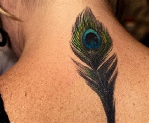peacock back tattoo feather peacock on back
