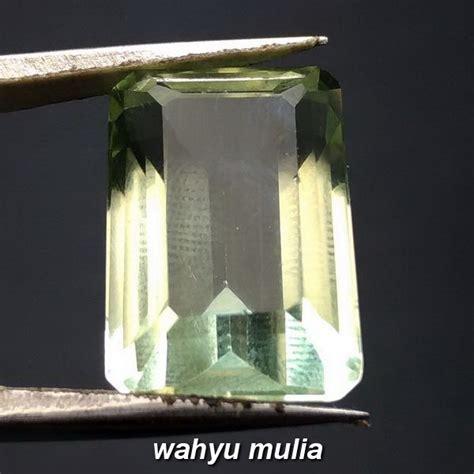 Kecubung Hijau Memo Tgl Lab batu permata green quartz 18 5 ct asli kode 843