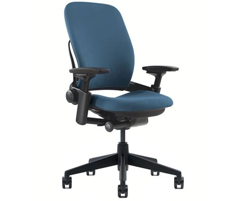 Used Desk Chairs - new steelcase leap chair adjustable v2 buzz2 blue fabric