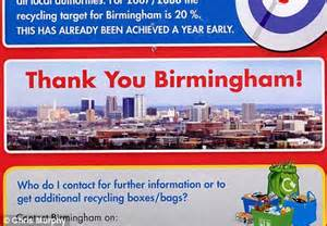 birmingham city council new year birmingham council uses picture of city skyline in leaflet
