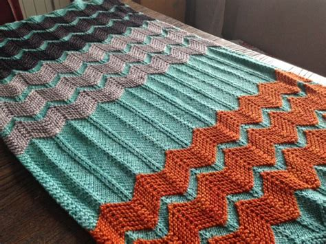 Chevron Baby Blanket Knit Pattern by Chevron Knitting Patterns In The Loop Knitting