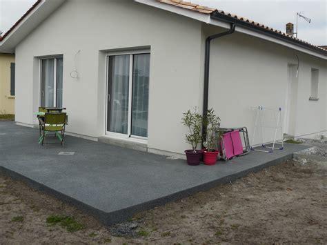 faire une terrasse beton 4502 pigment noir pour terrasse