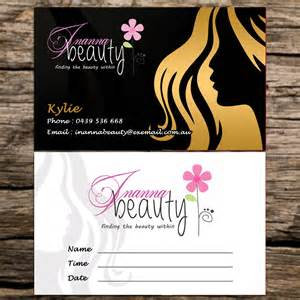 salon business card design salon business appointment card design business