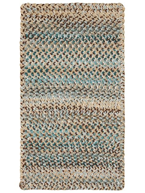 Deep Blue Ocracoke Braided Chenille Rug Cottage Home 174 Chenille Rug