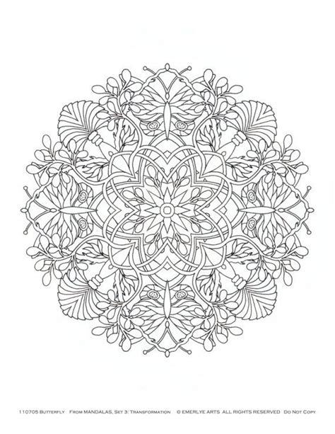 mandalas adult coloring pages transformation themed set