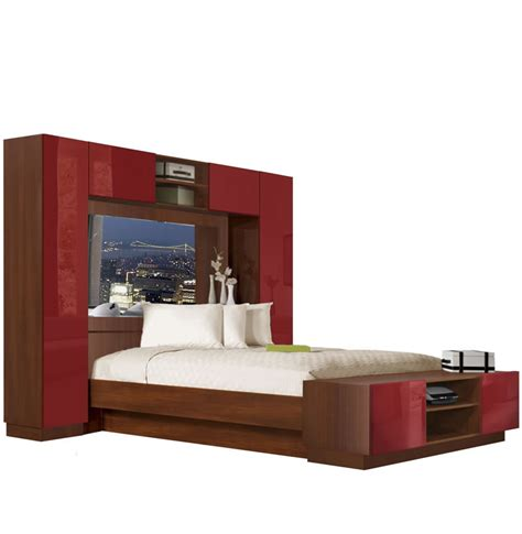 Chilton Pier Wall Bed With Mirrored Headboard Contempo Space
