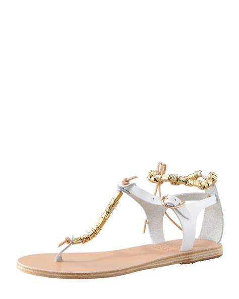 Sandal White ancient sandals womens white chrysso beaded vachetta sandal womof
