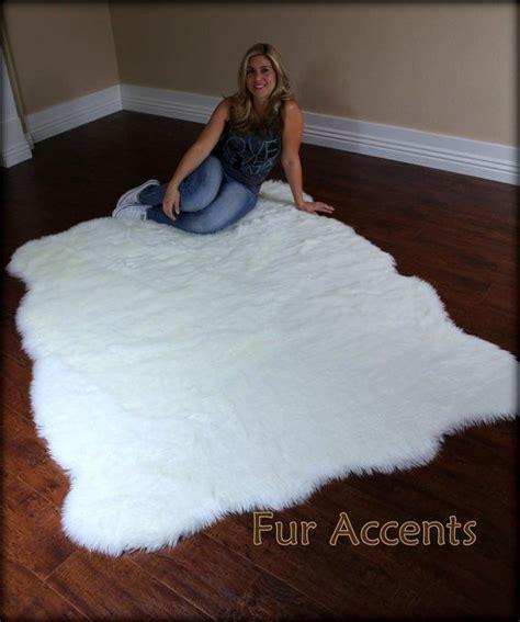 Karpet Bulu Sherpa Fleece Gray fleece accent rug faux fur sheepskin pelt 5 x6