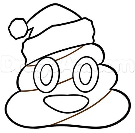 emoji coloring pages christmas poo emoji drawing lesson step by step