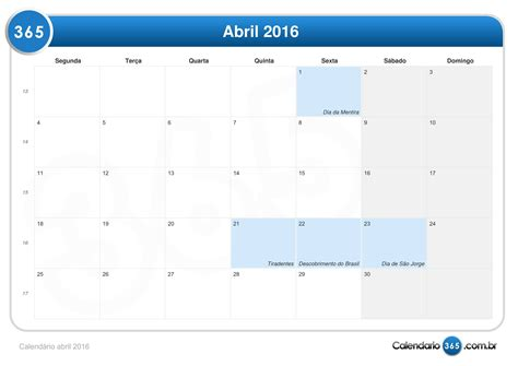 calendario progresar mes abril 2016 calend 225 rio abril 2016