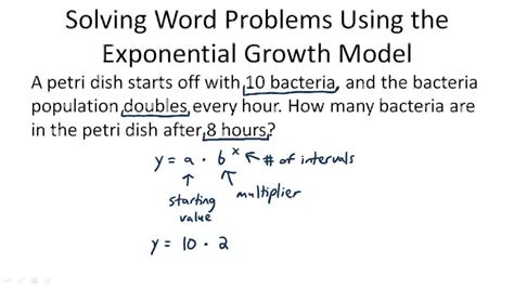 Exponential Word Problems Worksheet by Exponential Growth Word Problems