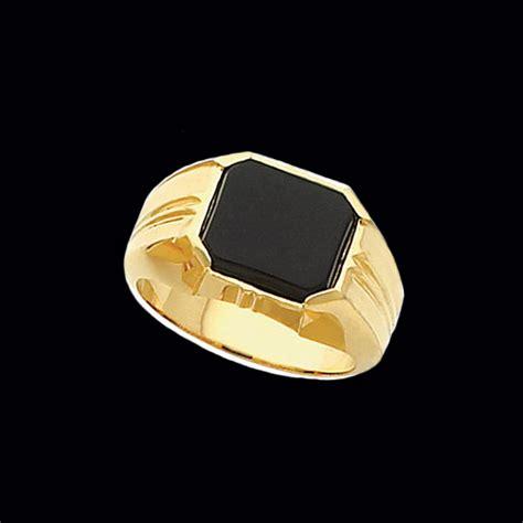 mens onyx gold ring