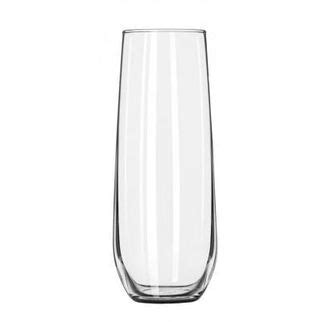 stemless chagne flutes libbey vina stemless flute glass 251ml 20 4 75 ea