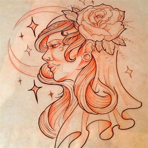 gypsy lady tattoo designs design by iluv2rock99 on deviantart