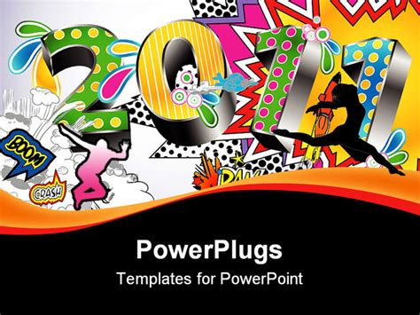 powerpoint comic template 2011 in a colorful comic book style powerpoint template