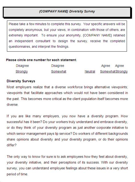 employee satisfaction survey sample in word and pdf formats