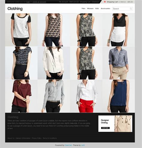 opencart themes clothing clothing opencart theme by ocpress themeforest
