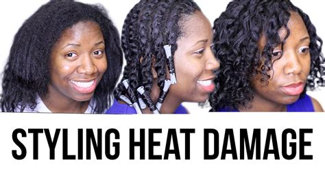 damage free hairstyles no heat youtube how to style heat damaged natural hair youtube