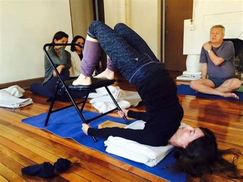 Chair Sarvangasana by 1000 Images About Iyengar Chair Inversions On