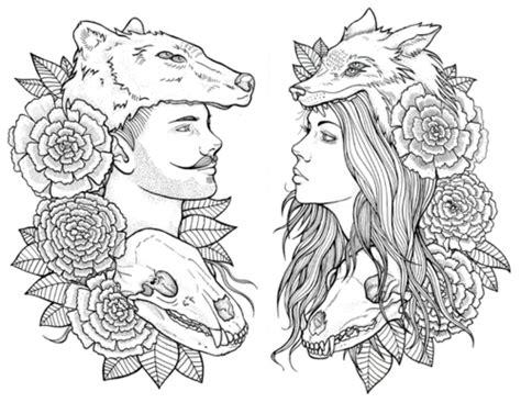 fox and bear tattoo sketch best tattoo ideas gallery