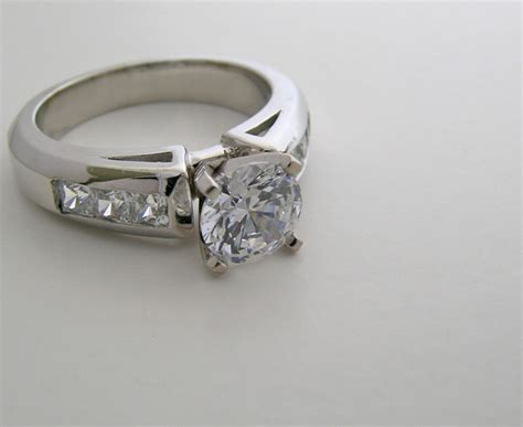 Engagement Ring Settings by Ring Settings Platinum Engagement Ring Settings Princess Cut