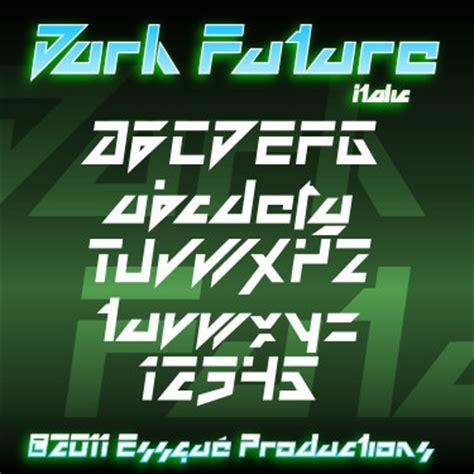 dafont futuristic dark future font dafont com